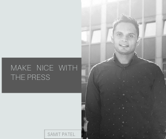 Make nice with press