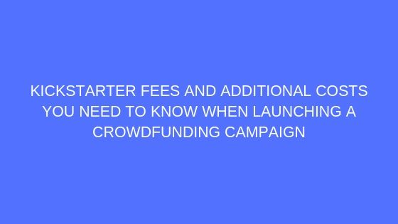 crowdfunding consultant fees